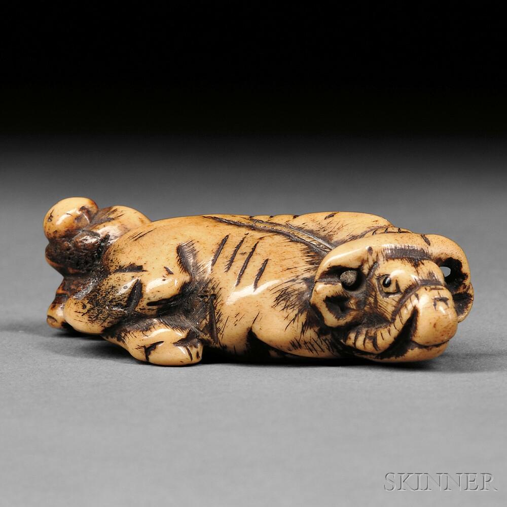 Ivory Netsuke of an Ox