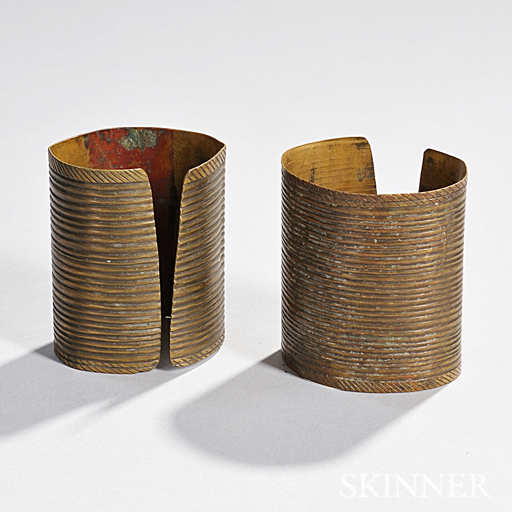 Pair of Sioux Brass Armbands