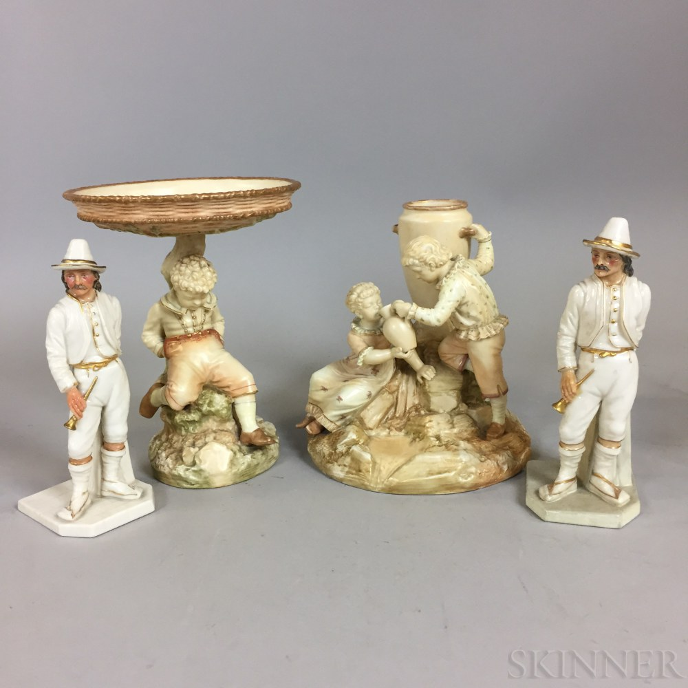 Four Royal Worcester Ceramic Figural Items