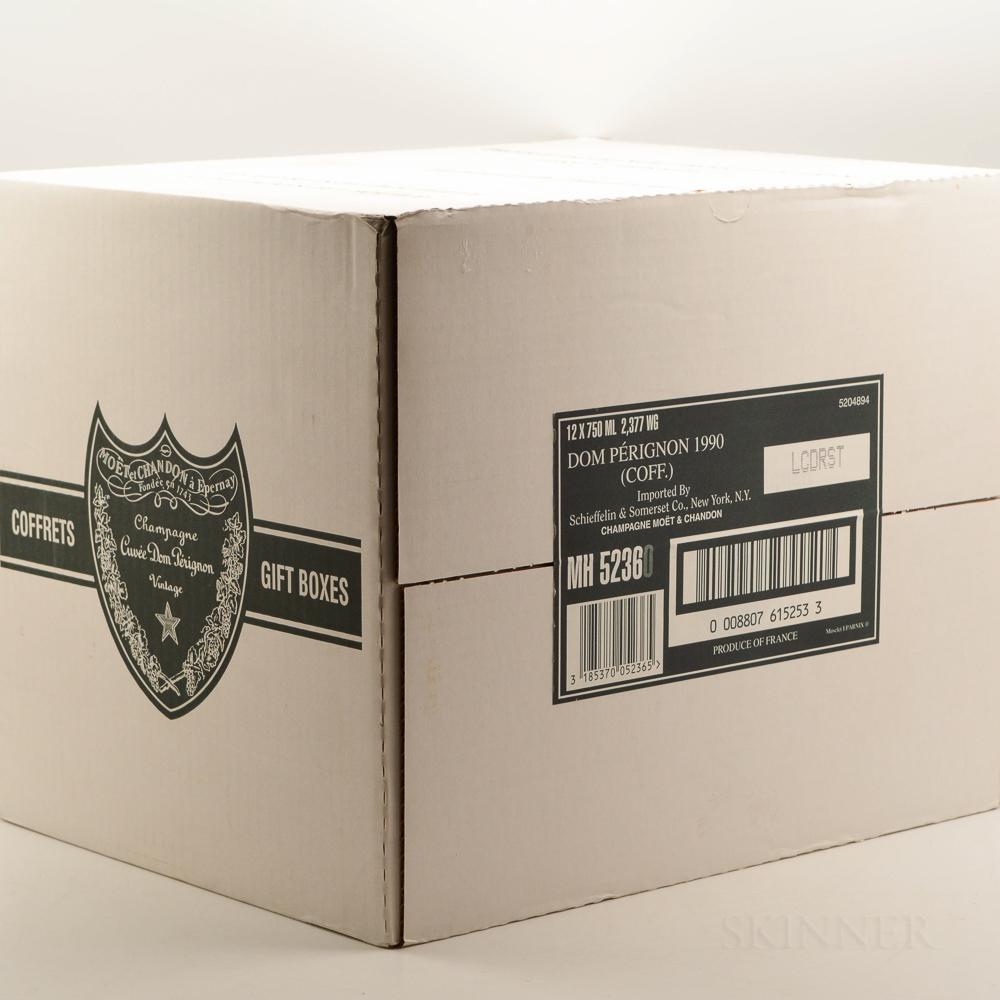 Moet & Chandon Dom Perignon 1990, 12 bottles (oc & ind. pc)