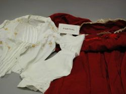 Lot of  White Cotton and Assorted Dressing Gowns, Petticoats, Blouses, Dresses, Etc.