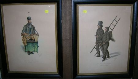 Six Framed Works on Paper
