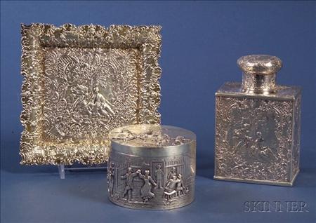 Three Continental Silver Vessels