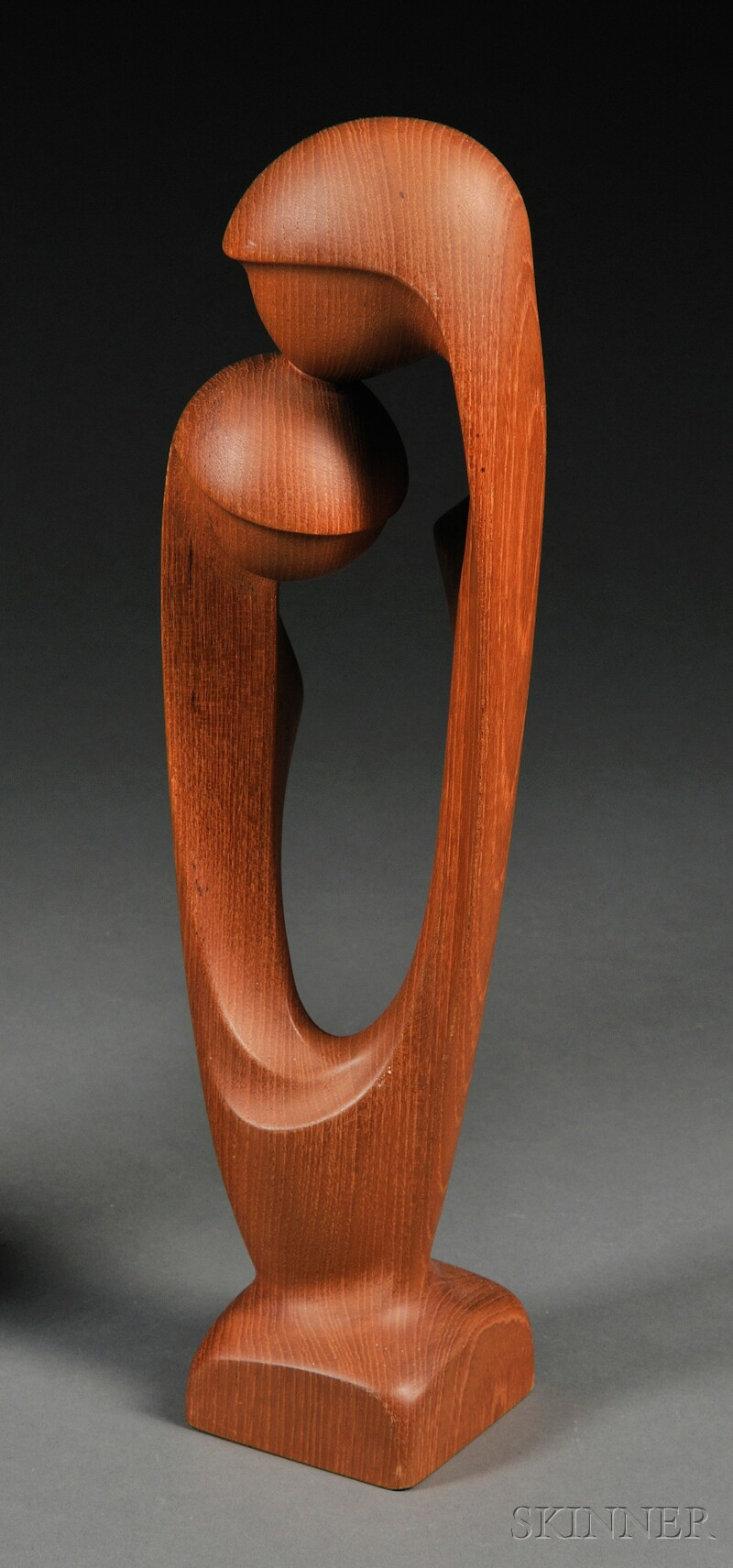 Mother and Child Wood Sculpture