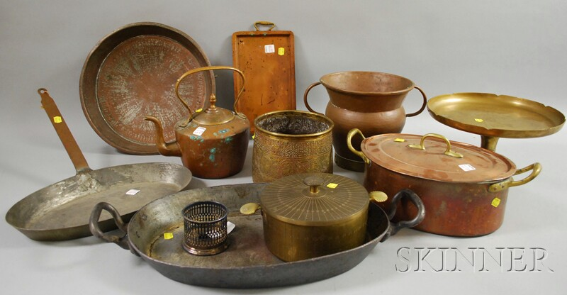 Ten Pieces of Brass, Copper, and Metalware