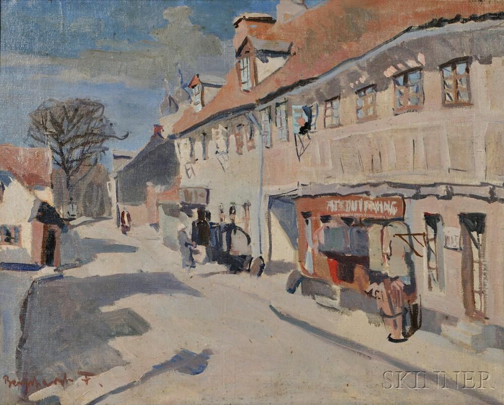 Aage Bernhardt Frederiksen (Danish, 1883-1963)      Old Street, Aarhus