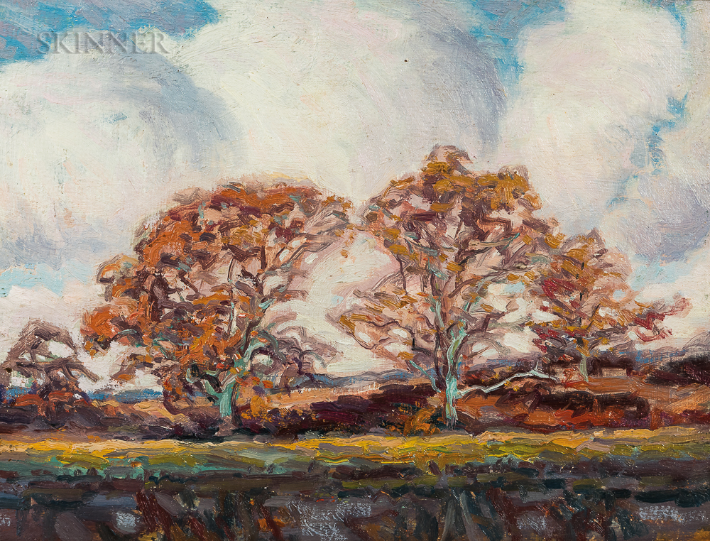 Henry Kenyon (American, 1861-1926)      Autumn Landscape with Stream