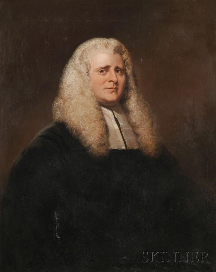 British School, 19th Century      Portrait of a Judge