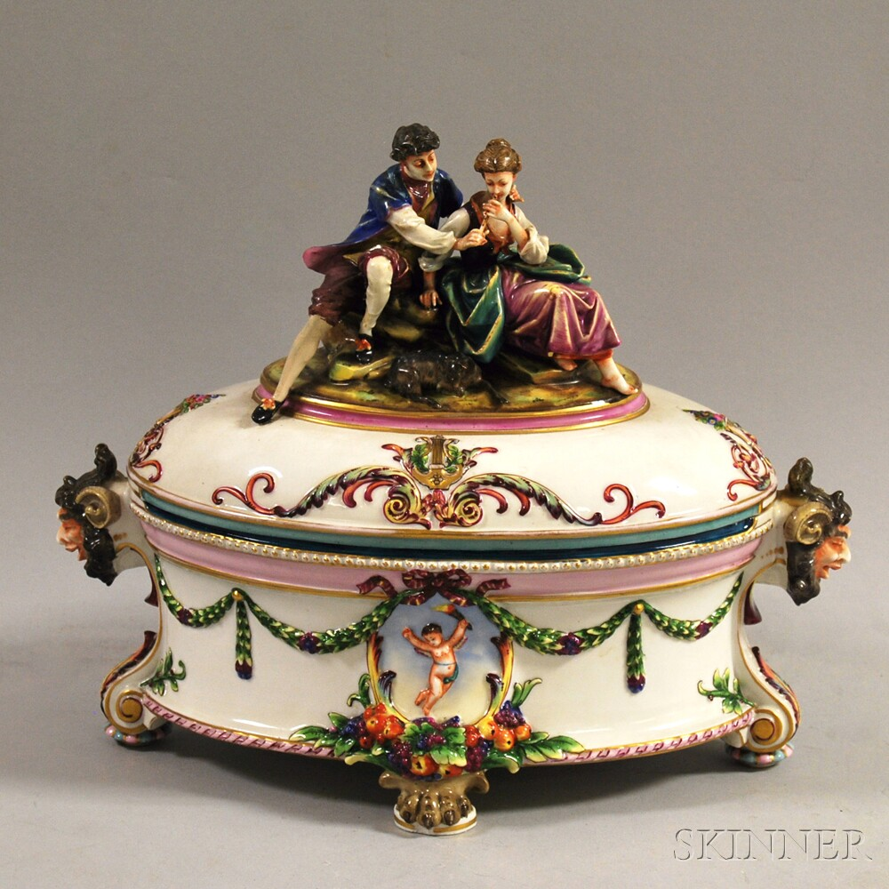 Capo di Monte Covered Porcelain Tureen