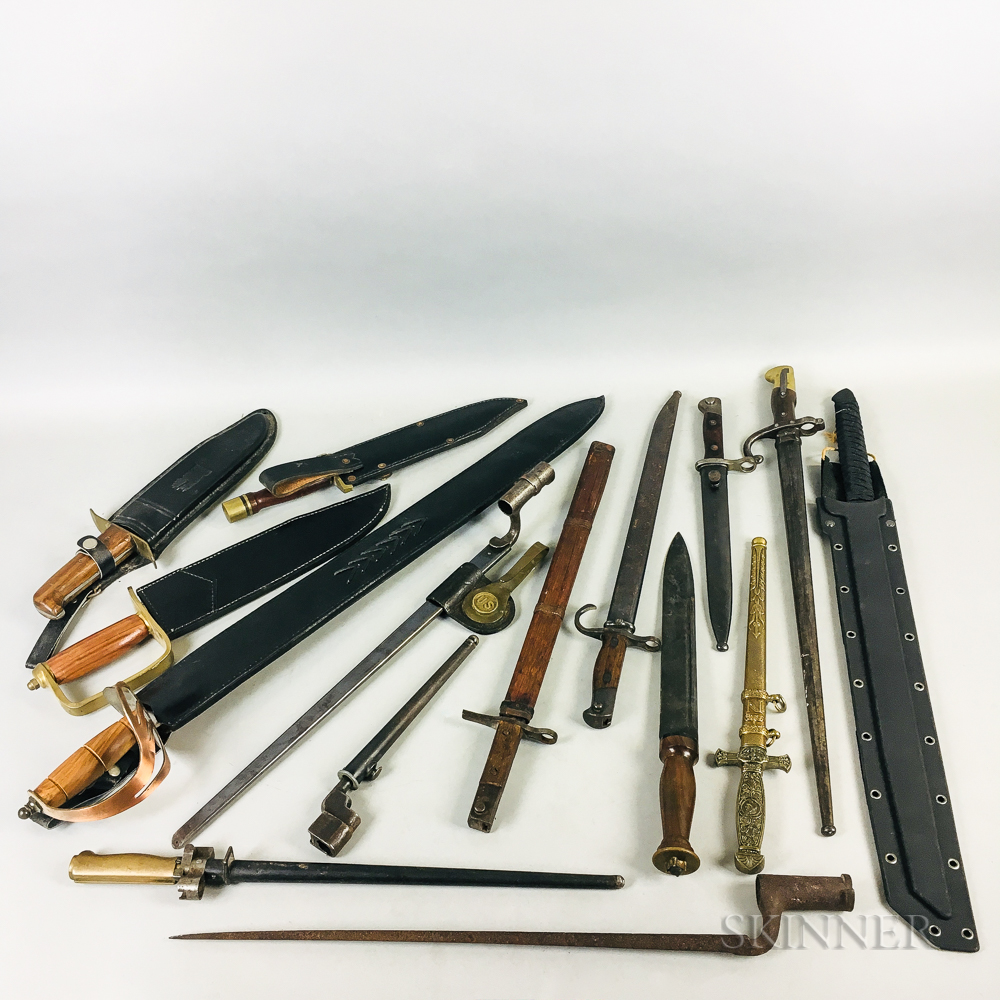 Group of Bayonets and Modern Reproduction Blades