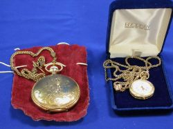 Womans Gold Openface Pocket Watch and a Mans Waltham Gold-Filled Pocket Watch.