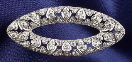 Art Deco Platinum and Diamond Brooch, Dreicer