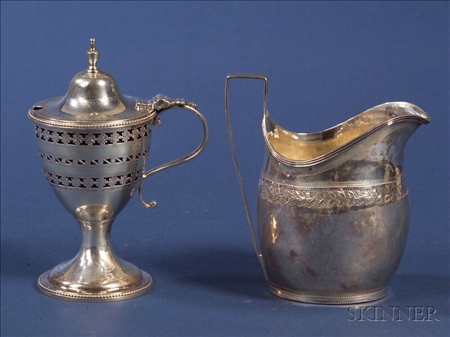 Two Small George III Silver Tablewares