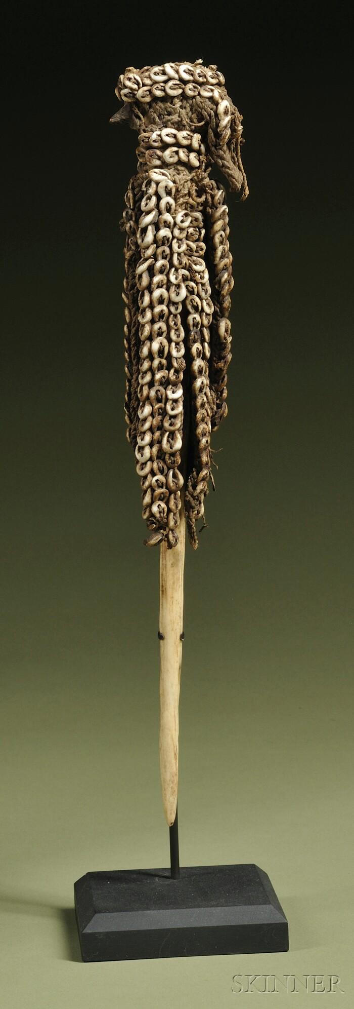 New Guinea Bone Lime Spatula