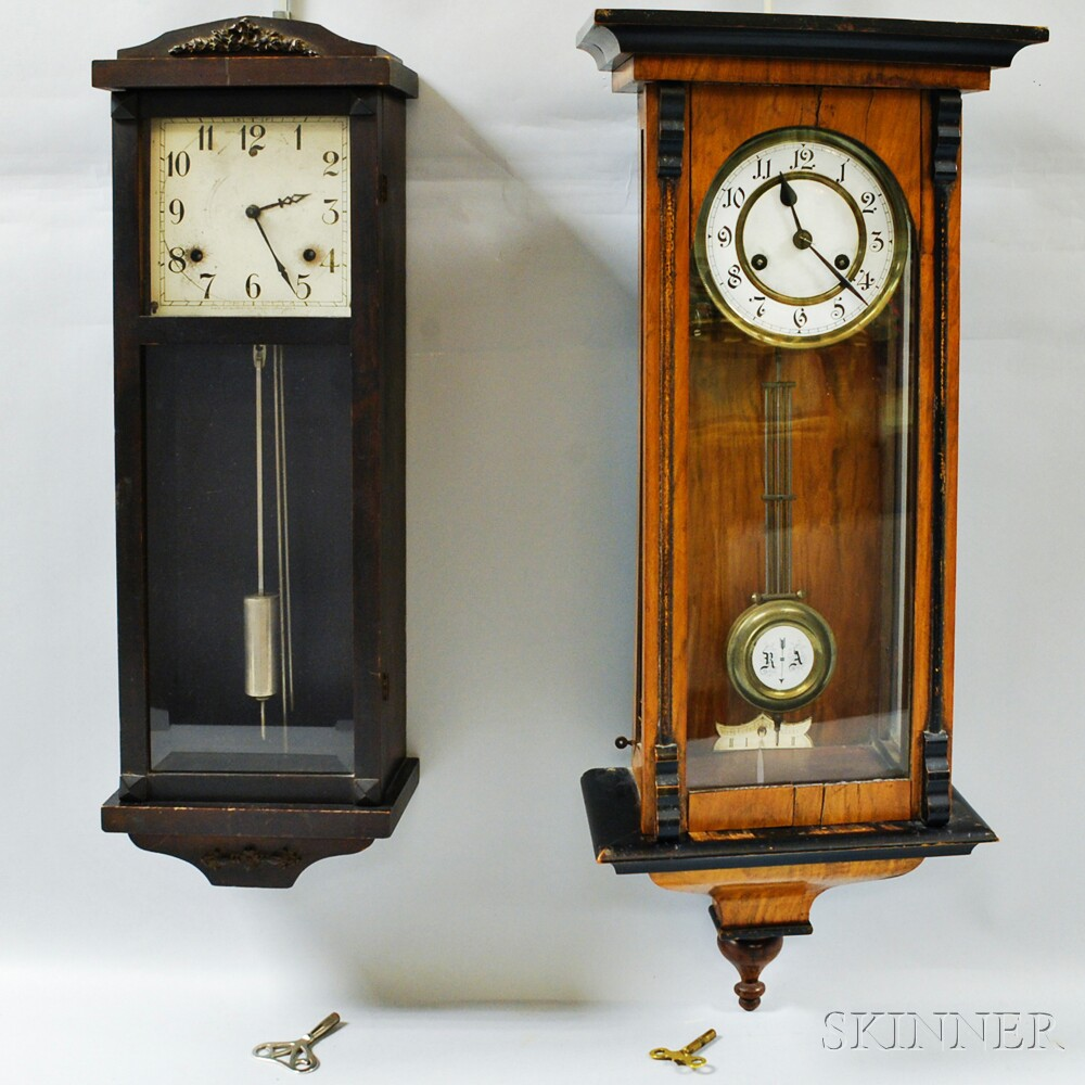 Two Striking Wall Clocks Sale Number 2910M Lot Number