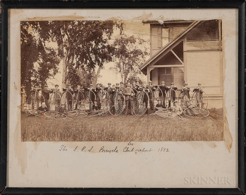 Photograph of the Saint Paul's School Bicycle Club, 1882