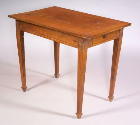 Southern French Neoclassical Walnut Side Table
