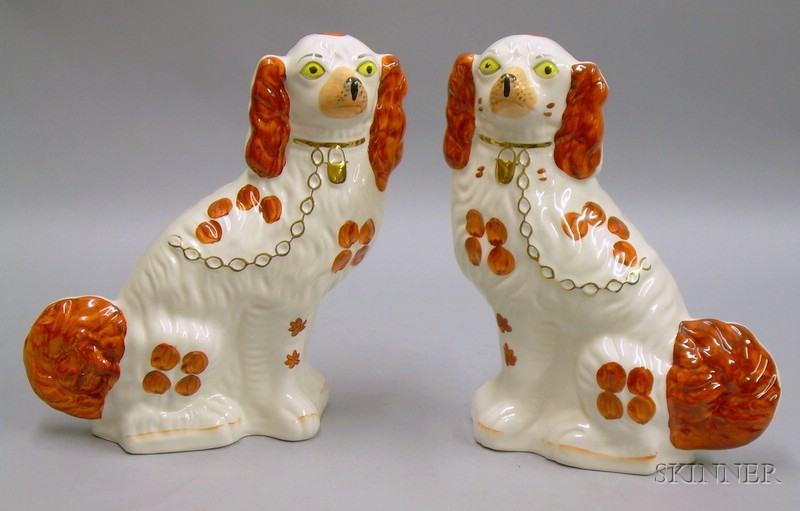 Pair of English Staffordshire Spaniels