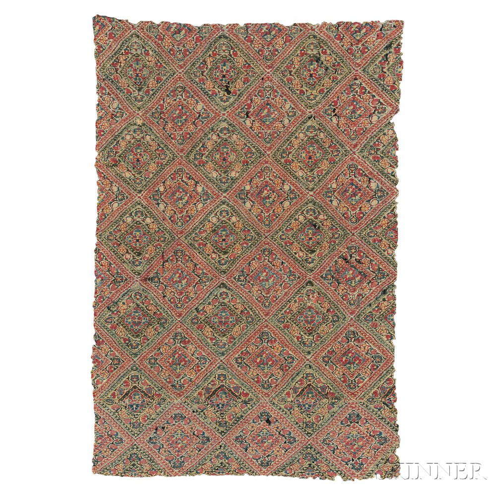 Mounted Kani Cloth Fragment