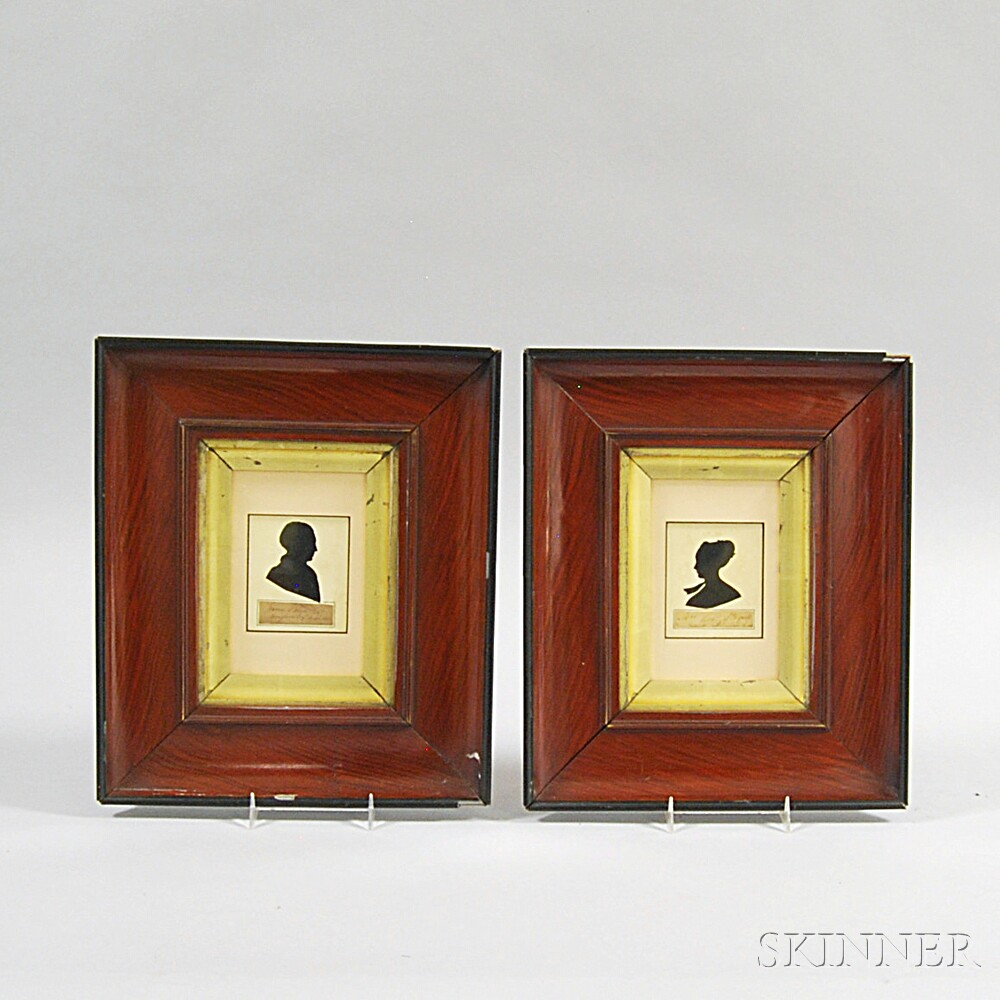 Two Framed Cut Silhouettes