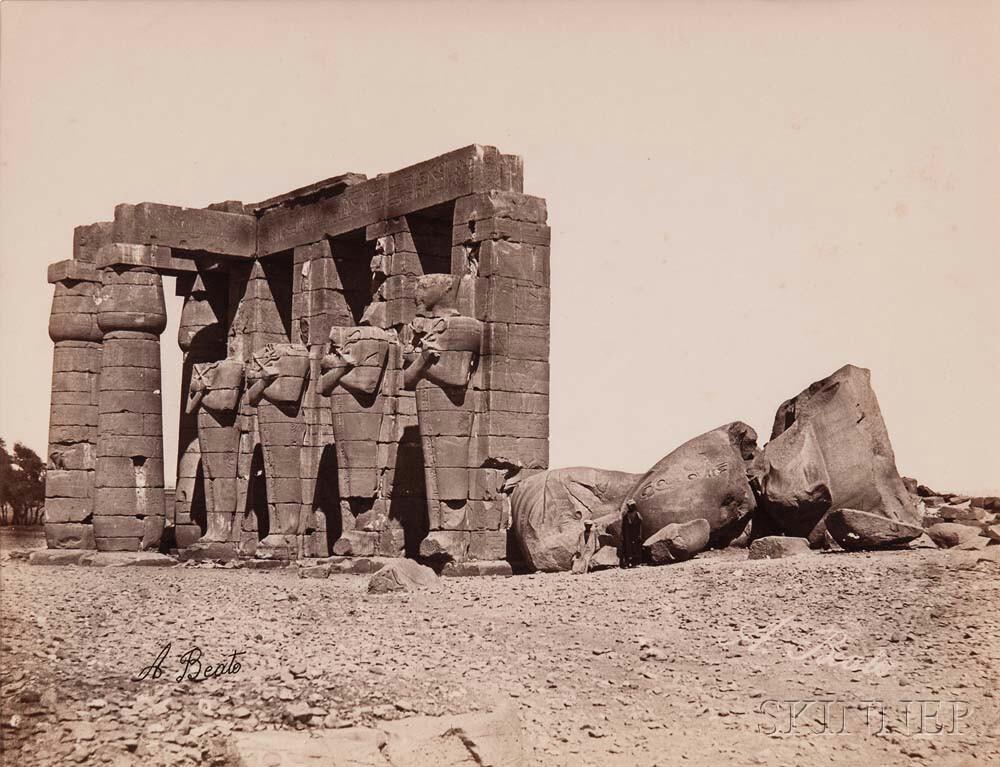 Various Artists, including Antonio Beato (Italian, c. 1835-1906)      Twenty-eight Views of Egypt (Cairo, Faiyum, Karnak, and Thebes)