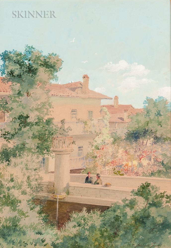 Abbott Fuller Graves (American, 1859-1936)      Italian Garden