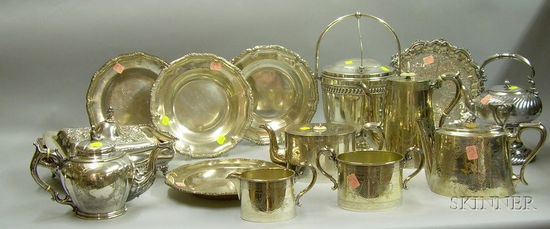 Fifteen Assorted Silver Plated Tableware Items