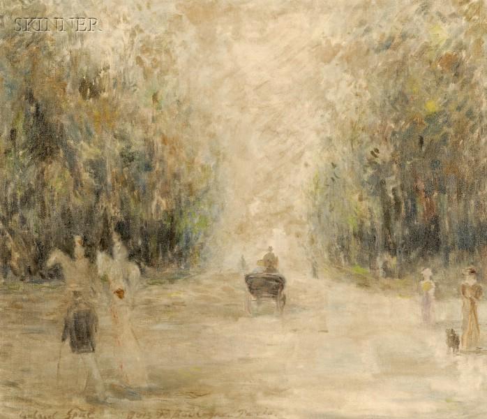 Gabriel Spat (Franco/American, 1890-1967)      Bois de Boulogne, Paris