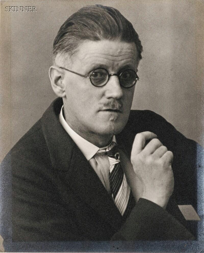 Berenice Abbott (American, 1898-1991)      James Joyce