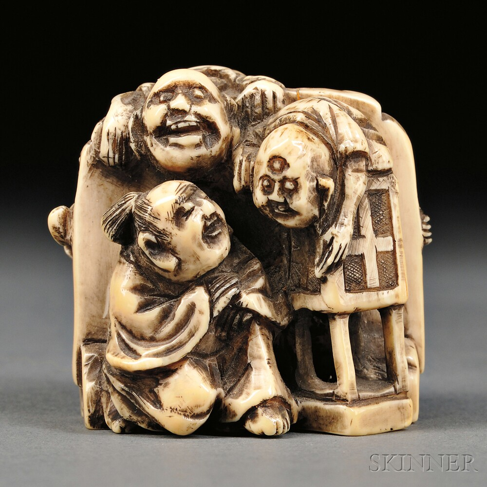 Ivory Carving of Five Demons