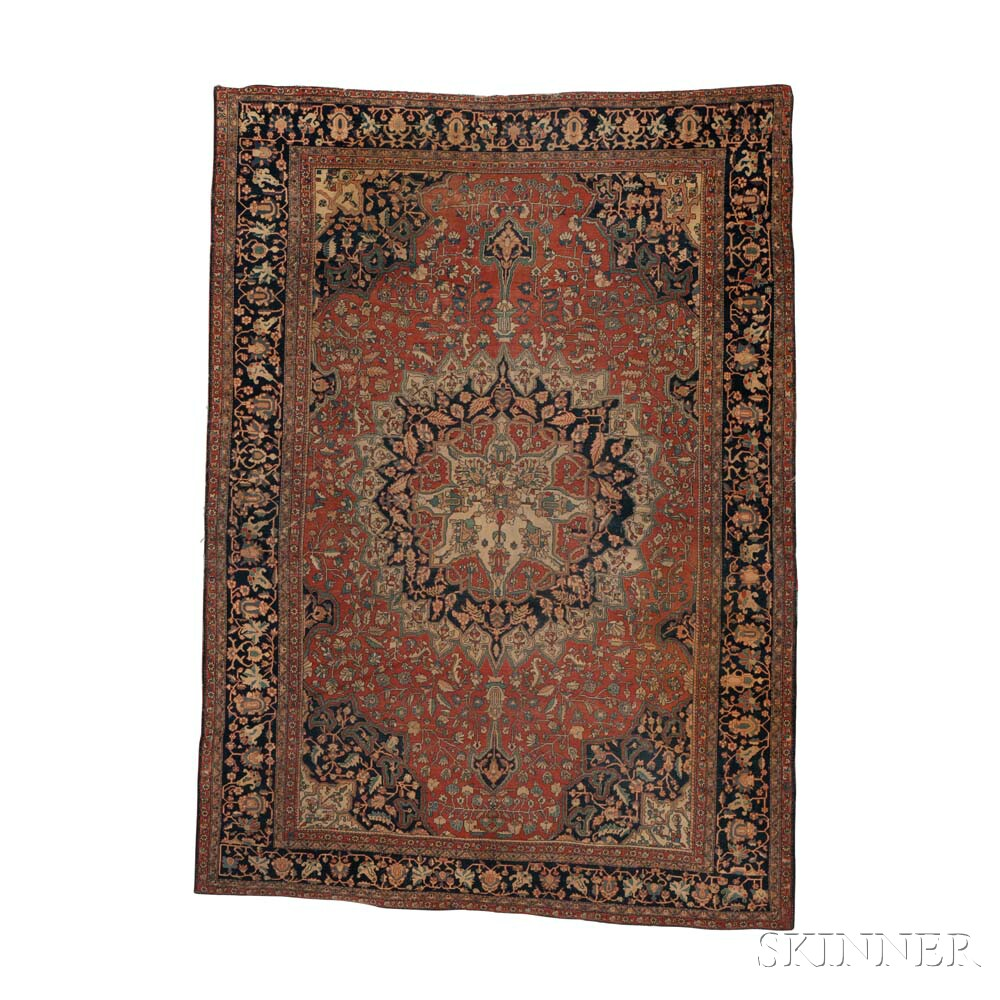 Antique Sarouk Carpet