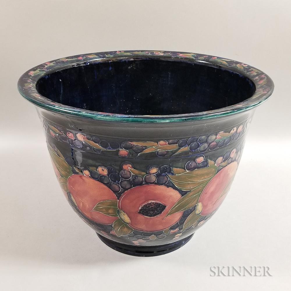 Large Moorcroft Pottery Pomegranate Design Planter