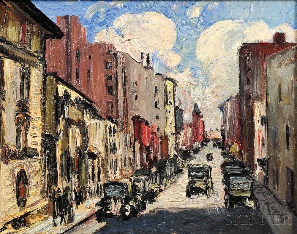 Haley Lever (American, 1876-1958)      Downtown Street Scene