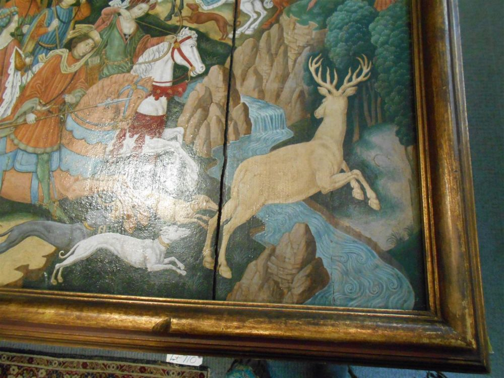 French School, 17th Century Style      Hunting Scene: Stag and Boar