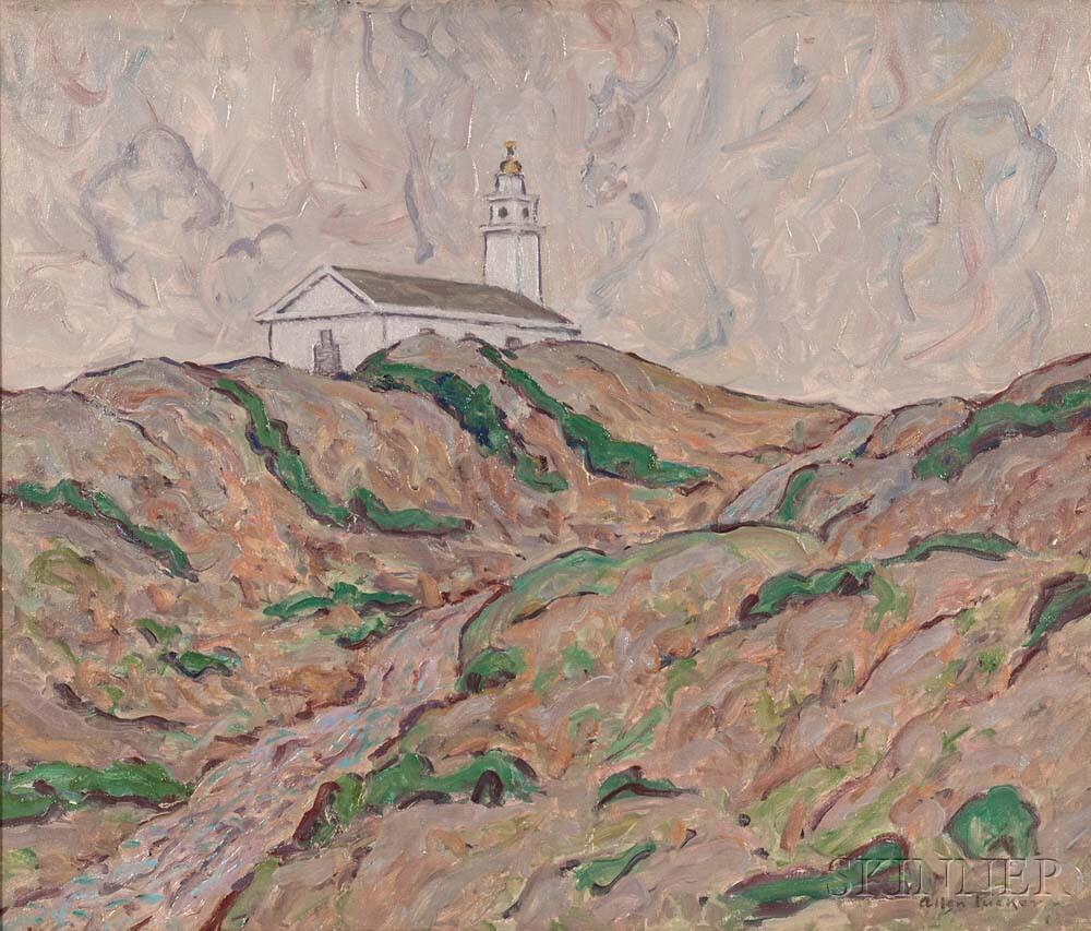 Allen Tucker (American, 1866-1939)      Church on the Dunes
