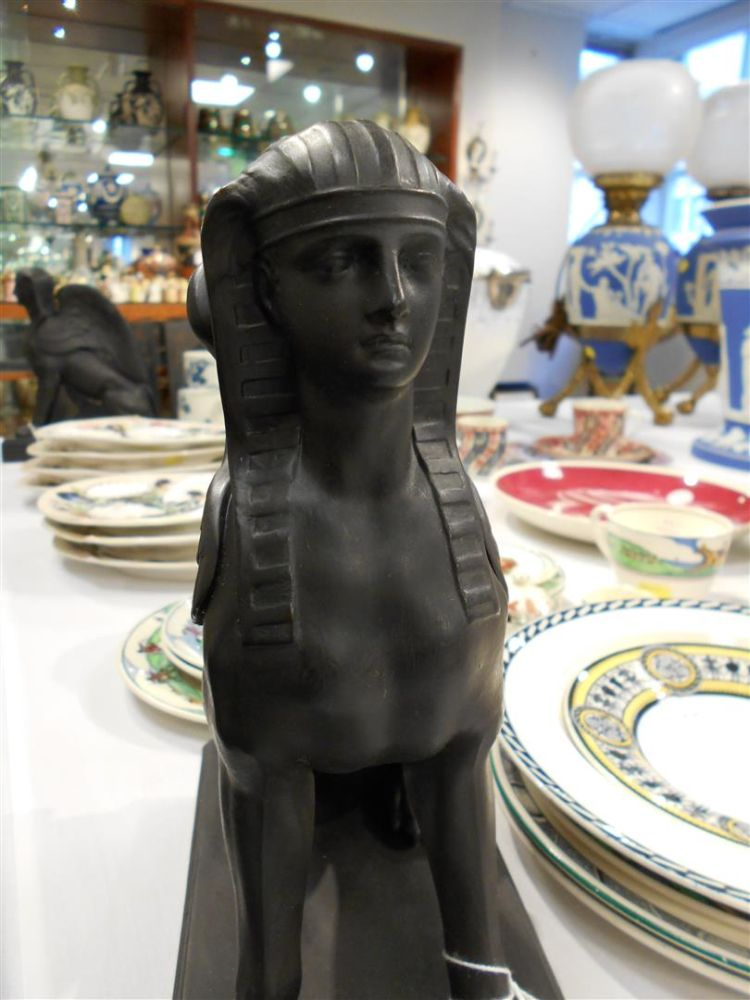 Pair of Wedgwood Black Basalt Sphinx