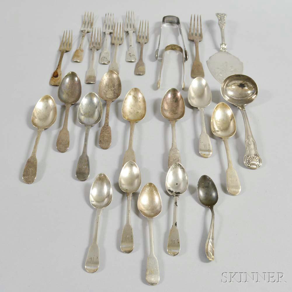 Group of Georgian Sterling Silver Flatware