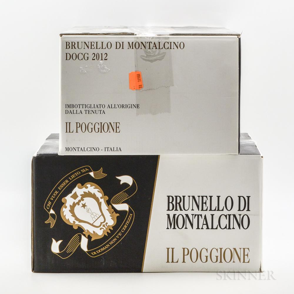 Il Poggione Brunello di Montalcino 2012, 12 bottles (2 x oc)