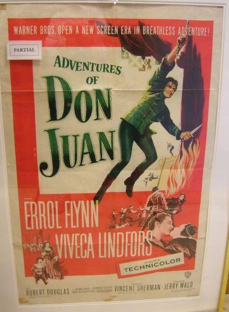Ten Framed One Sheet 1940-50s Cinema Posters
