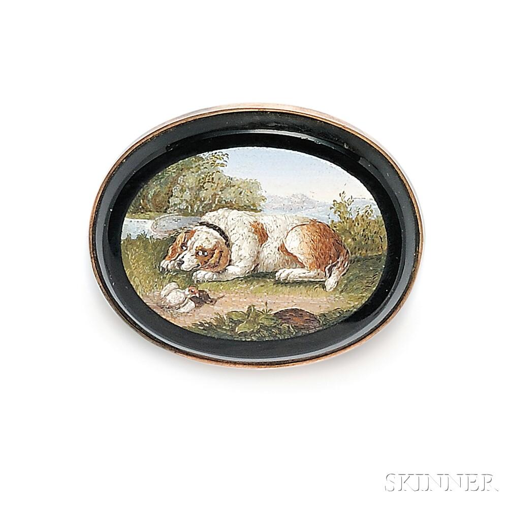 Antique Micromosaic Brooch