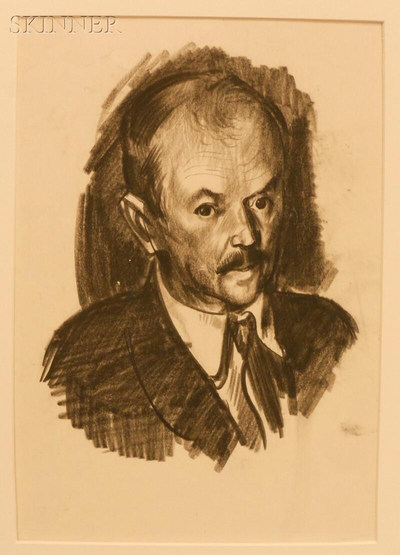 George Wesley Bellows (American, 1882-1925)      Portrait of Charles Rosen