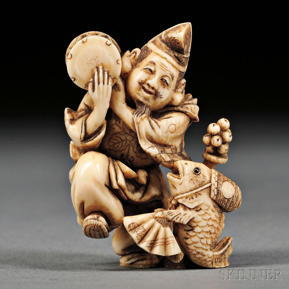 Ivory Netsuke of Ebisu