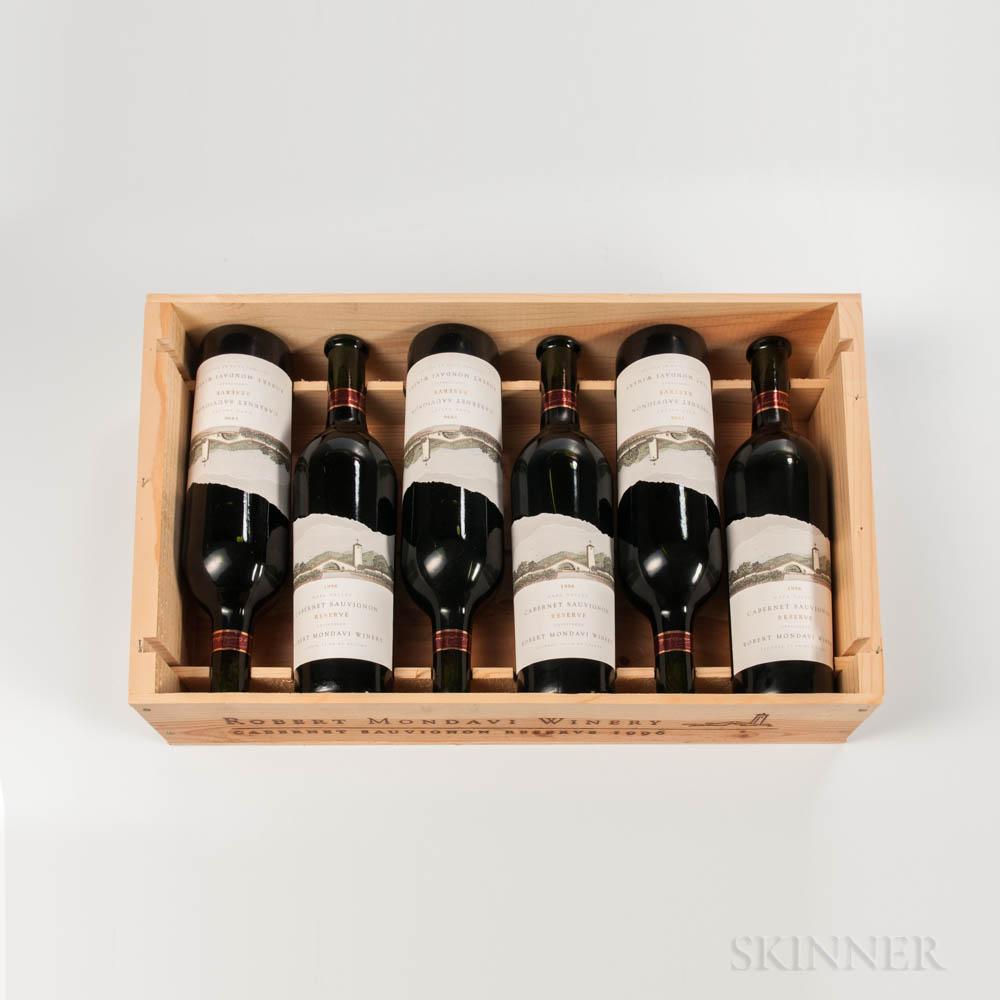 Robert Mondavi Cabernet Sauvignon Reserve 1996, 6 bottles (owc)