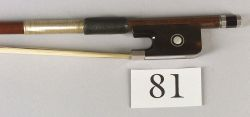 English Silver and Tortoiseshell Mounted Violoncello Bow, Albert Leeson for W.E. Hilll & Sons