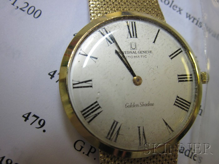 18kt Gold Automatic Wristwatch, Universal Geneve