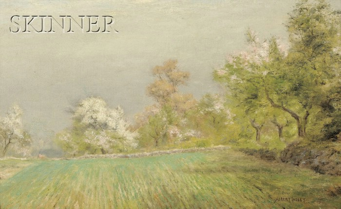 Albert Babb Insley (American, 1842-1937)      Spring Landscape