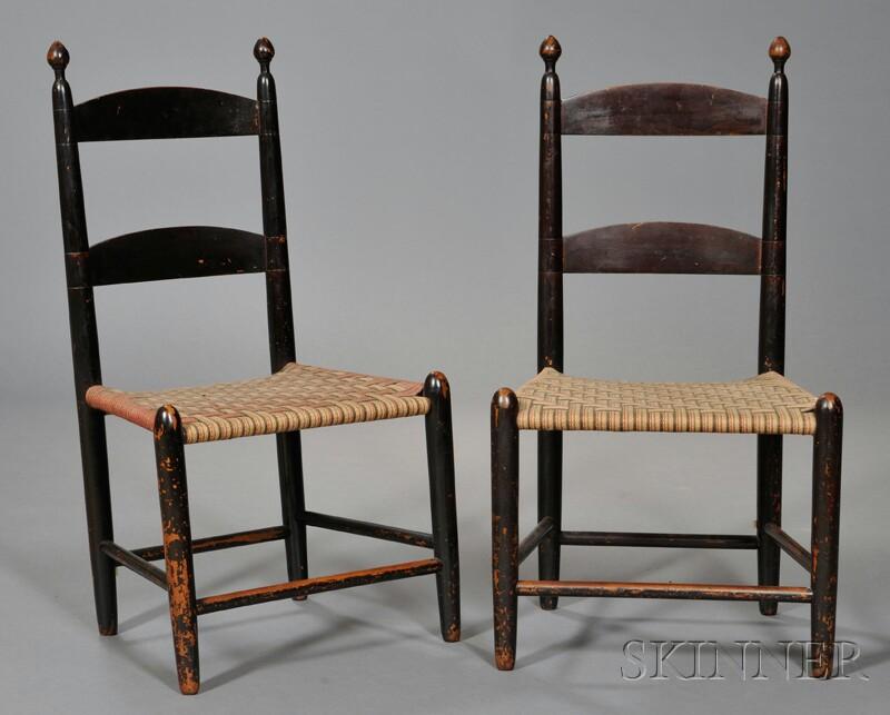 Pair of Shaker Maple Children's Chairs