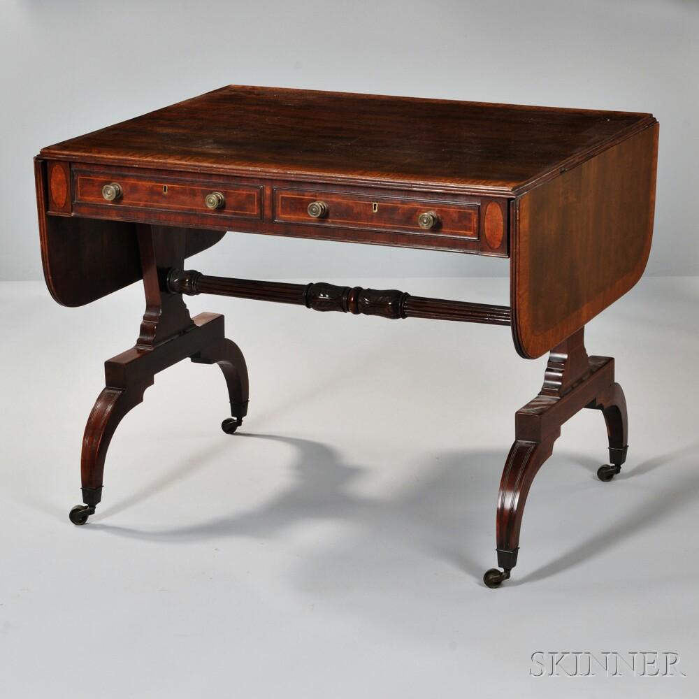 Regency-style Inlaid Mahogany Desk