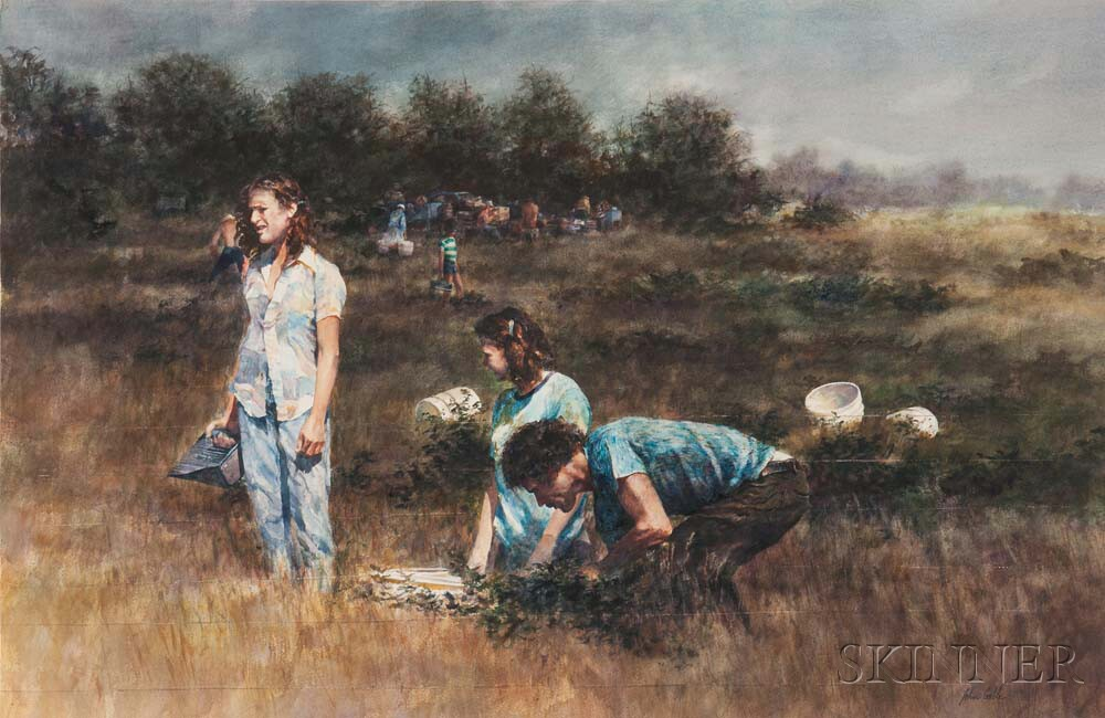 John Gable (American, b. 1944)      The Blueberry Pickers