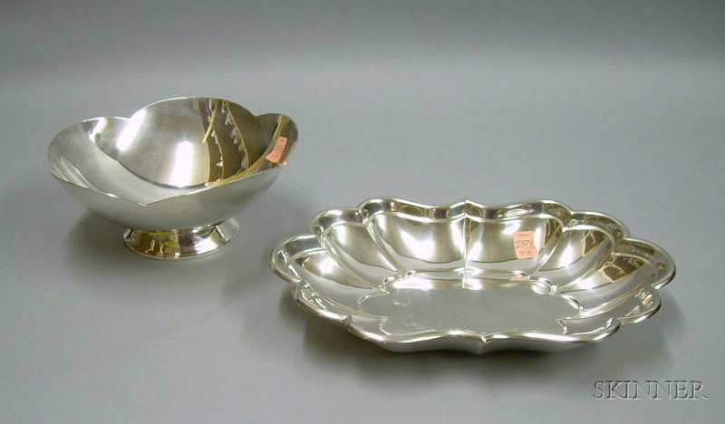 Boardman Sterling Silver Footed Bowl and a Reed & Barton Sterling Silver Windsor   Bowl